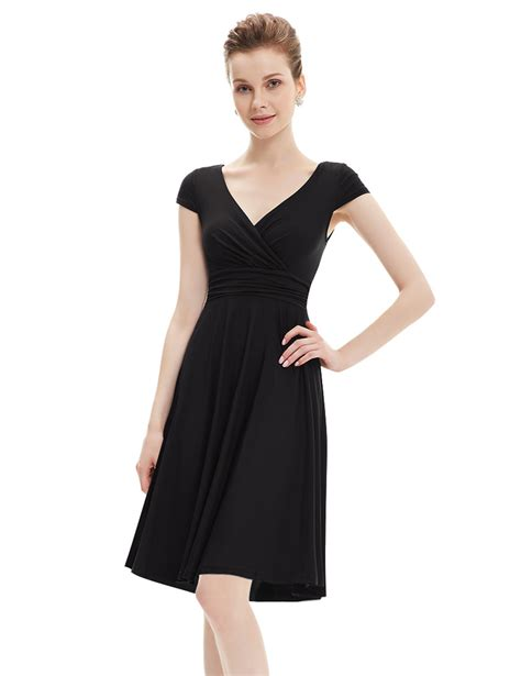 Women's Short Aline Vneck Bodycon Casual Dresses