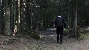 Frightened Afraid Female Woman Runs Away From Murderer ...