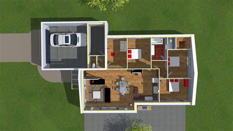 plans de maisons en 2d