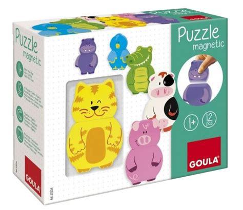 goula magnetic puzzle farm animals 9 pieces toys