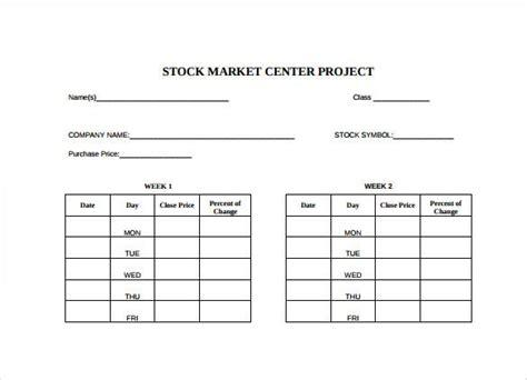 sample stock spreadsheet templates  premium