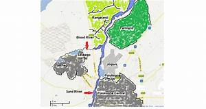 Map Of The Sand River With The Polokwane And Seshego