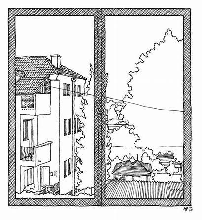 Window Windows Drawing Sketch Lidija Matteo Pericoli