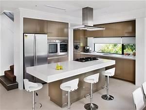 Modern island kitchen design using marble Kitchen Photo 115718