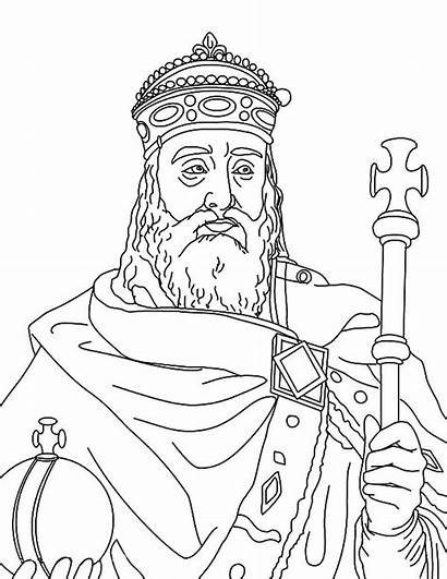 Charlemagne Coloring Pages King Clipart Clip Kidsplaycolor