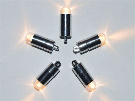 battery powered lights 5 x warm white single led battery powered lights