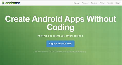 how to create android apps without coding