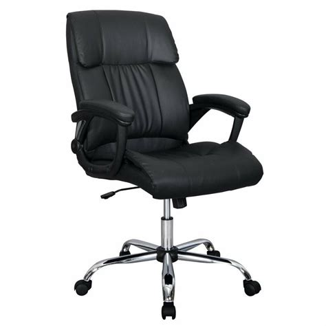 Office Chairs For Back by Black Pu Leather High Back Office Chair Executive Best