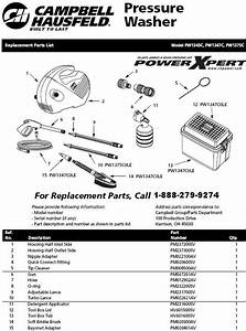 Campbell Hausfeld Pw1345c Pressure Washer Parts