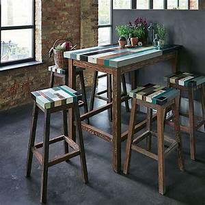 Table De Cuisine Haute : table haute bar cuisine table haute avec chaise maisonjoffrois ~ Teatrodelosmanantiales.com Idées de Décoration