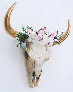Tete De Vache Deco : cr ne de vache cr ne d 39 animal t te de mort par hodihomedecor d co ~ Melissatoandfro.com Idées de Décoration