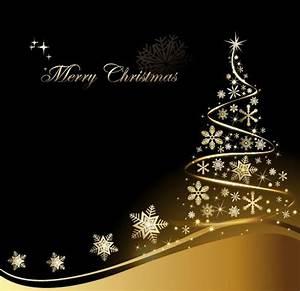 Free Creative Gold Christmas Tree Design Vector 02 TitanUI
