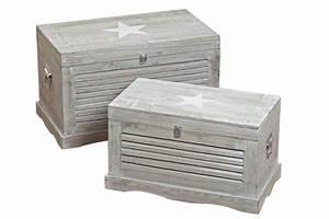 Shabby Chic Truhe : truhe lamello stern shabby landhaus holztruhe holzkiste aufbewahrungsbox grau ~ Sanjose-hotels-ca.com Haus und Dekorationen