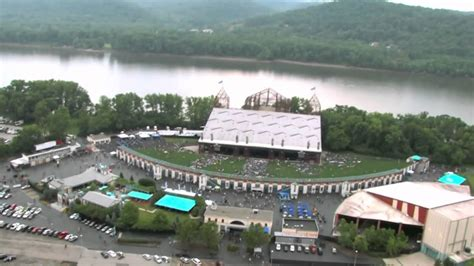 Riverbend Music Center Flyby Over The New Lawn!!! Youtube