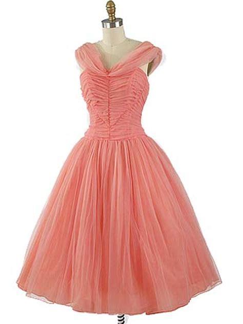 coral pink chiffon party dress prom wedding