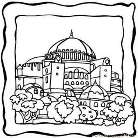 dome building coloring page  buildings coloring