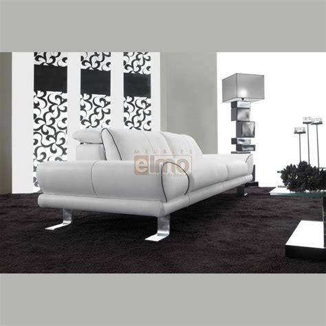 canap 233 design contemporain cuir ou tissu pied m 233 tal kenzi