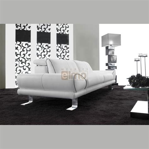 canape cuir design contemporain canapé design contemporain cuir ou tissu pied métal kenzi