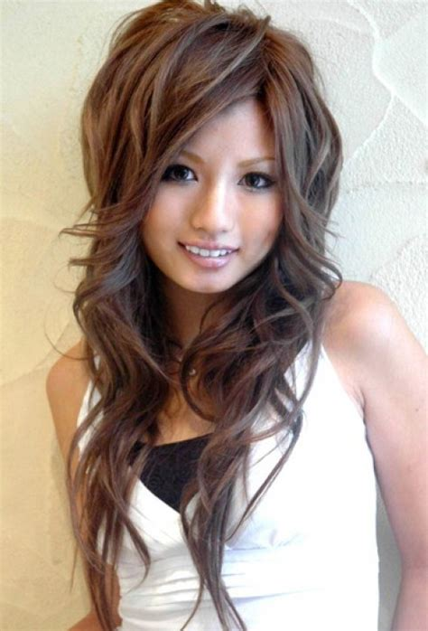 cute asian hairstyles for girls high volume large waves