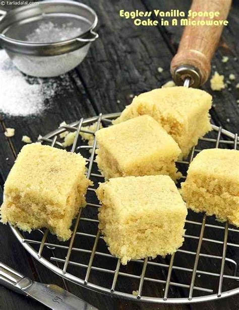 Eggless Vanilla Sponge Cake In A Microwave Recipe By