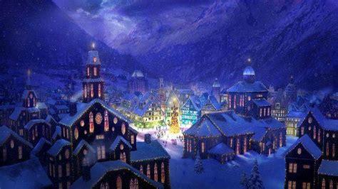 Thomas Kinkade Christmas Tree Village by 15 Free Lovely Christmas Wallpapers