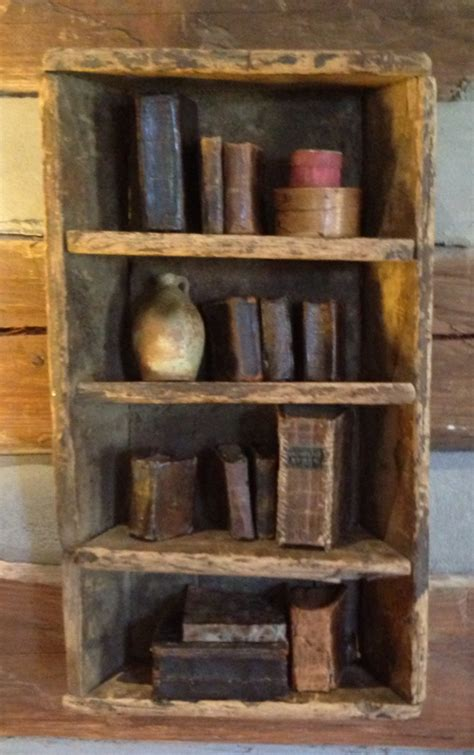 Primitive Bookcases by Prim Bookcase And Olde Books Prim Vintage Books In 2019