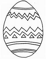 Easter Egg Coloring Printable sketch template
