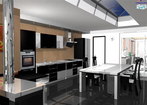 photos cuisine ouverte cuisine ouverte sur salon photos great luminaire cuisine