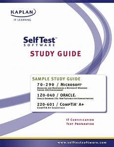Self Test Study Guide Sample