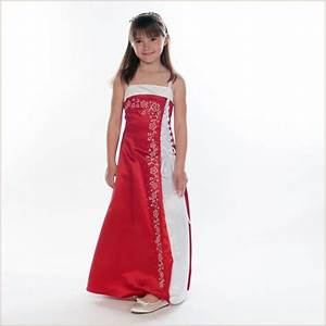 Tamsin Red and White Long Junior Bridesmaid Dress 8 10 12 ...