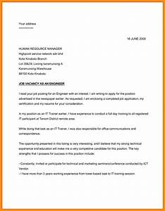 sample application letter for job vacancy c45ualwork999org With how to write a covering letter for a job vacancy