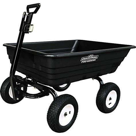 tractor supply garden cart groundwork heavy duty garden dump cart 1500 lb capacity