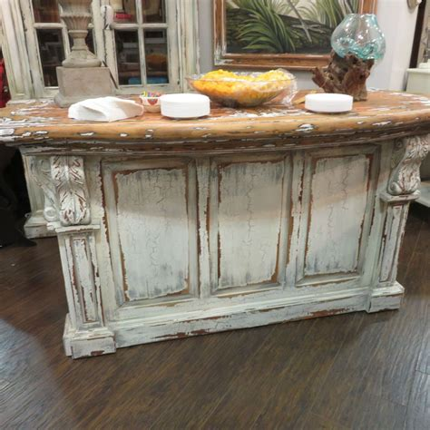 distressed kitchen islands distressed country kitchen island bar counter 3379