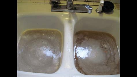 unclog  kitchen sink youtube