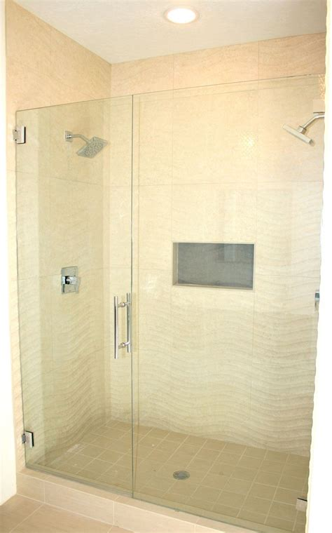 wavy tile  master shower beachy bathroom bathroom