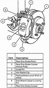 1999 Ford Taurus Rear Brake Caliper