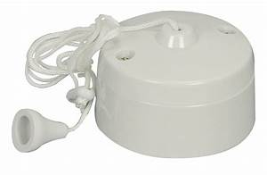 Pull Cord Switch 6a 1 Way Ceiling Mounted Switch For Bathroom Light  U0026 Fan Etc