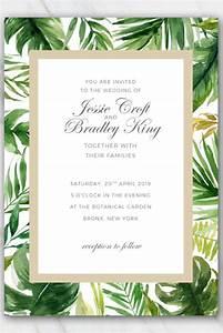 Flower Invitations Templates Free Tropical Palm Tree Leaves Wedding Invitation Template
