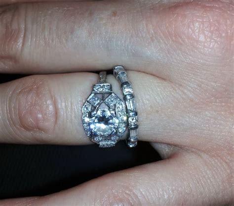 deco vintage engagement ring advice wedding band weddingbee