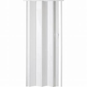 Porte Pliante Sur Mesure : porte extensible ibiza blanc brillant 205 x 85 cm pais ~ Dailycaller-alerts.com Idées de Décoration