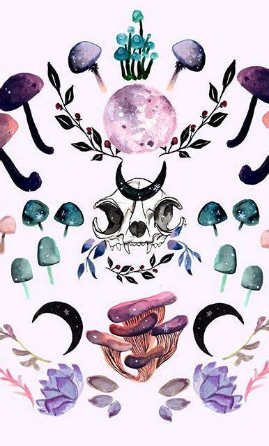 midnight mushrooms new work on my society6 witchy
