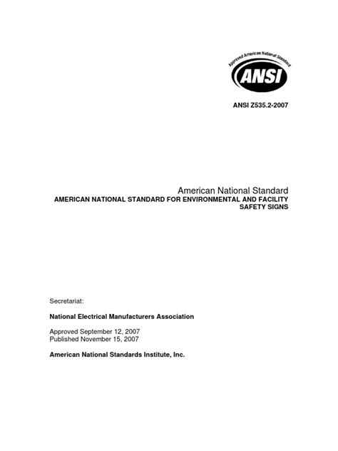 ANSI Z535.2 Final | Standardization | Safety