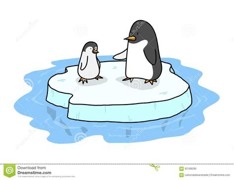Penguins On Ice Stock Vector. Illustration Of Easy