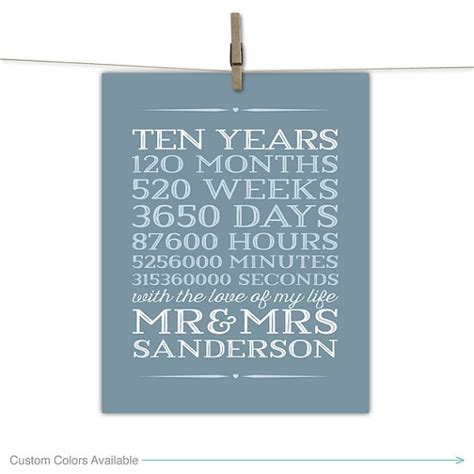 10 year anniversary gift for 10 year anniversary gift for men 10th wedding by