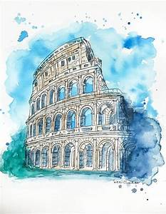 Original Colosseum Watercolor Painting by NiksPaintGallery ...