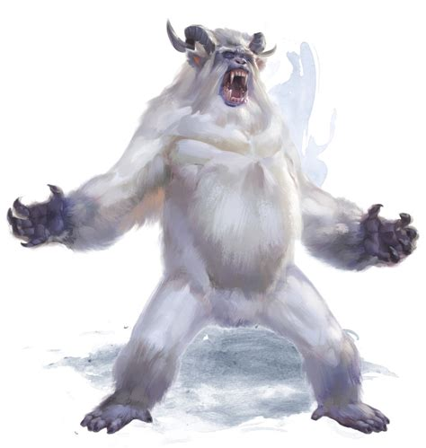grey and white throw yeti 5e dungeons dragons d d 5