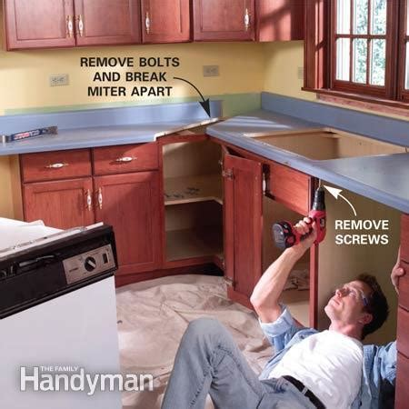 how to install laminate countertops install a laminate kitchen countertop the family handyman