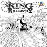 Thomas Engine Steam Train Coloring Tank Pages Drawing Printable Friends King Railway Easy Royal Representations Printables Adults Children Wooded Exquisite sketch template