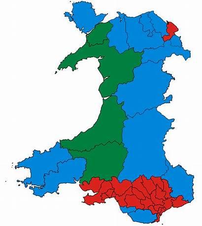 Cymru Plaid Wales Map Welsh Constituency Parliamentary