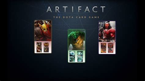 artifact valve s card release date gameplay dota 2 cards everything we usgamer